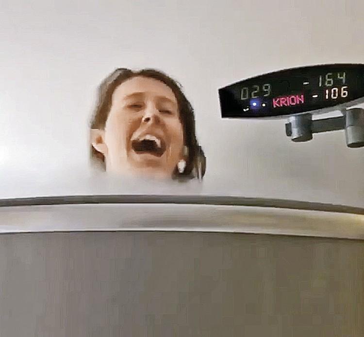 Собчак худеет в криокамере. После 20 сеансов в «ледяной сауне» врачи обещают минус 7 - 10 кило.