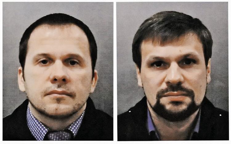 Лондон утверждает, что атаку в Солсбери организовали эти двое мужчин из российских спецслужб - Александр Петров (на фото - слева) и Руслан Боширов.