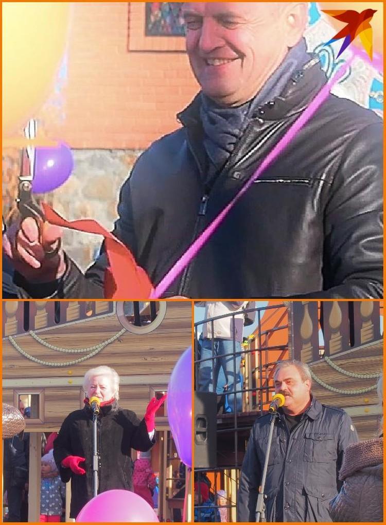Андрей Сысоев торжественно разрезал красную ленточку вместе с Тамарой Прямиковой и Алексеем Веллером.