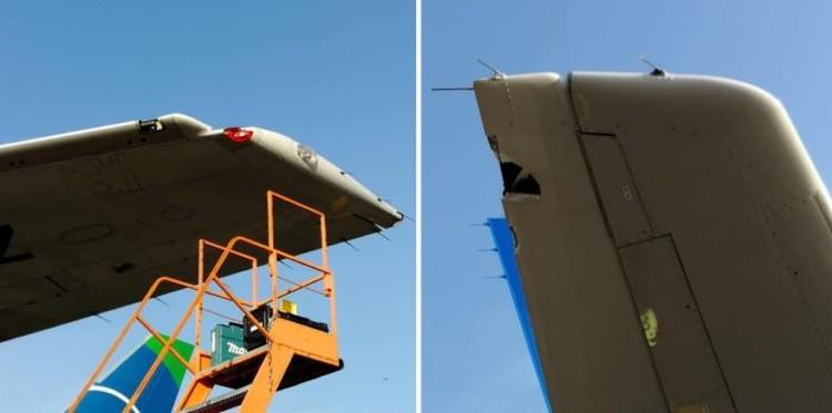 У самолета «Уральских авиалиний» была повреждена правая половина руля высоты