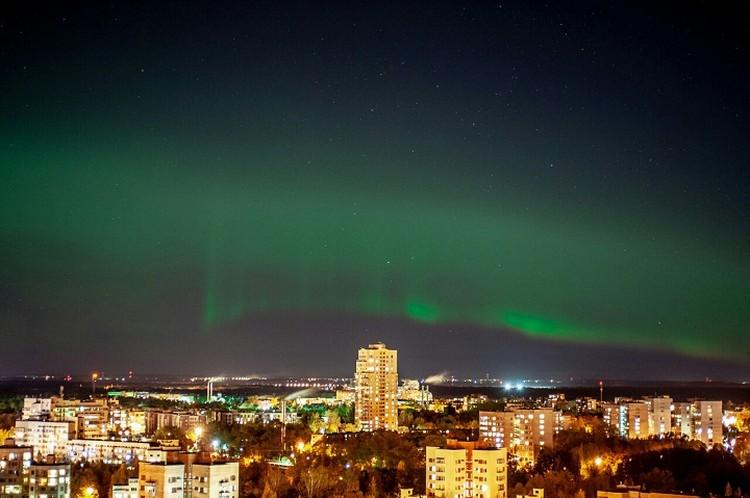Северное сияние привело в восторг жителей Сестрорецка. Фото: vk.com/paha_panfiloff