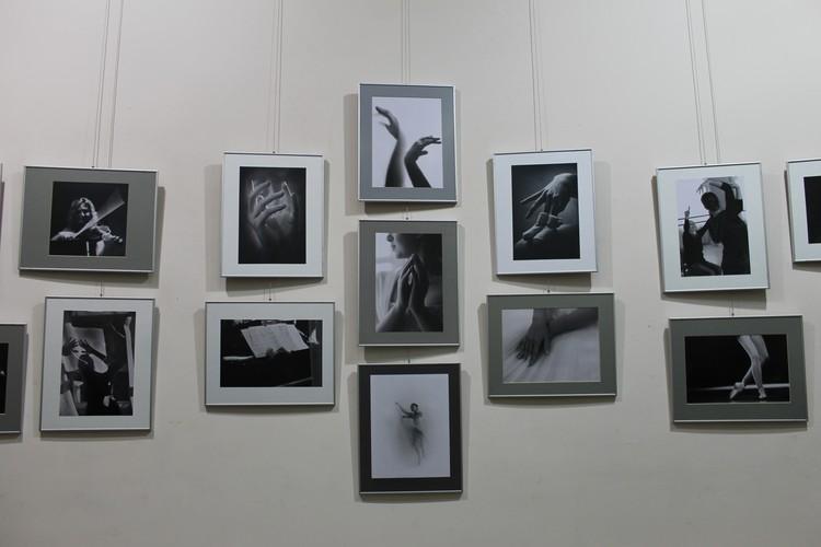 Центральное место в экспозиции выставки занимают прекрасные руки балерин Донецка
