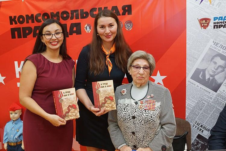 Вера Ивановна Федорова возглавляла в военные года комсомольскую фронтовую бригаду