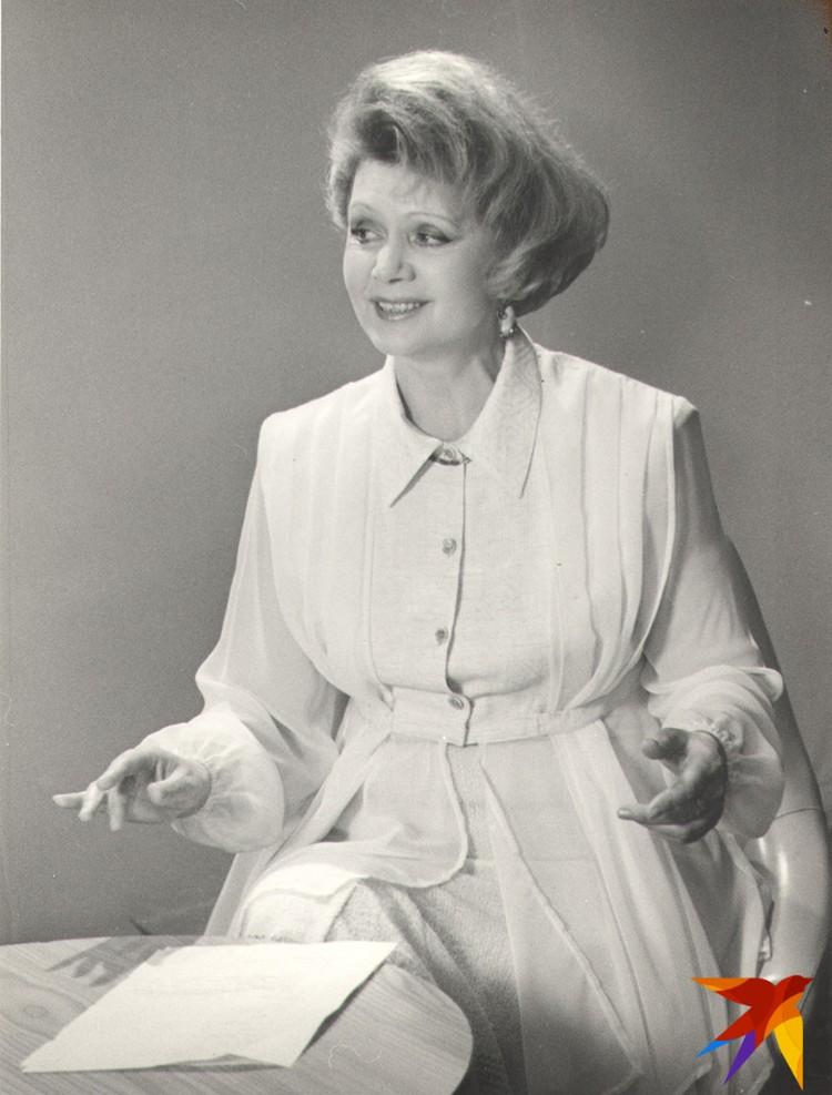 Зинаида Александровна была лицом БТ в самых разных программах – мы ее запомнили и элегантной теледивой... Фото: Личный архив