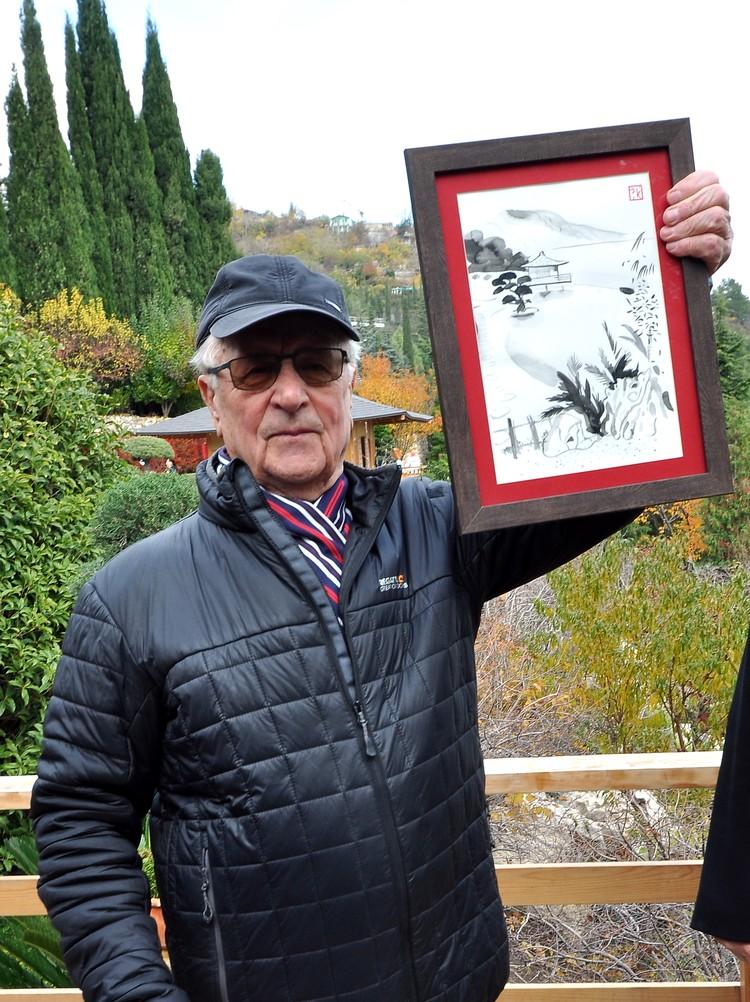 Сергею Анненковому подарили настоящую японскую картину