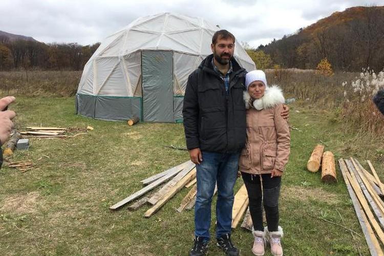 Кирилл Ярочкин и Ульяна Джигкаева уже больше года осваивают дальневосточные земли (фото предоставлено героем публикации).