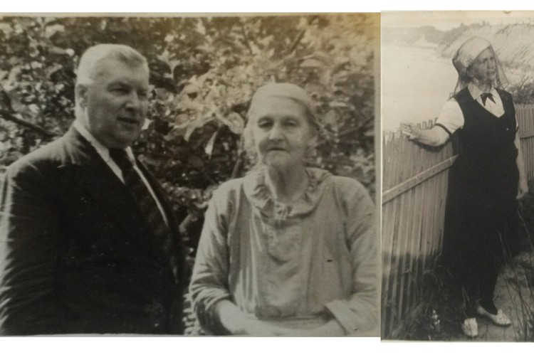 На фото слева: Юлия Туполева, жена двоюродного брата авиаконструктора, Аполлинария, с племянником Вацлавом Зброжеком, ок. 1950 г.; справа: Валерия Туполева, дочь Юлии, ок. 1940 г. Фото из семейного архива семьи Бондаревых