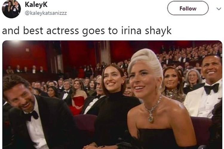 - И «Оскар» в номинации «Лучшая актриса» отправляется к Ирине Шейк, - пишут интернет-шутники.