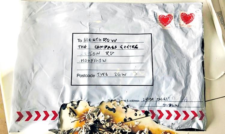 Во вторник в лондонский аэропорт пришло вот такое письмо - «С любовью из Ирландии». Внутри были следы взрывчатки. Угрозы боевиков становятся вполне реальными... Фото: met.police.uk