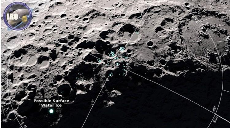 Перемещение лунной воды зафиксировал зонд LRO.