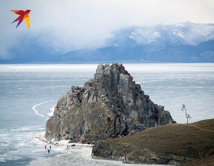 Зимние красоты озера Байкал.