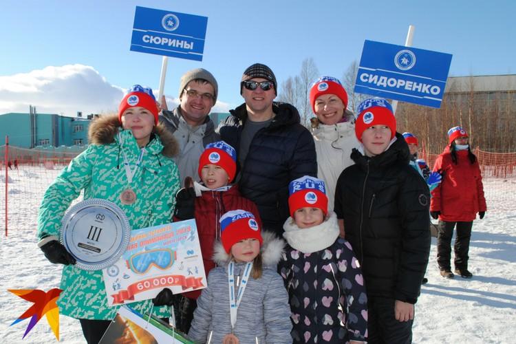 Семьи Сюриных и Сидоренко поддерживали друг друга на всех этапах соревнований.
