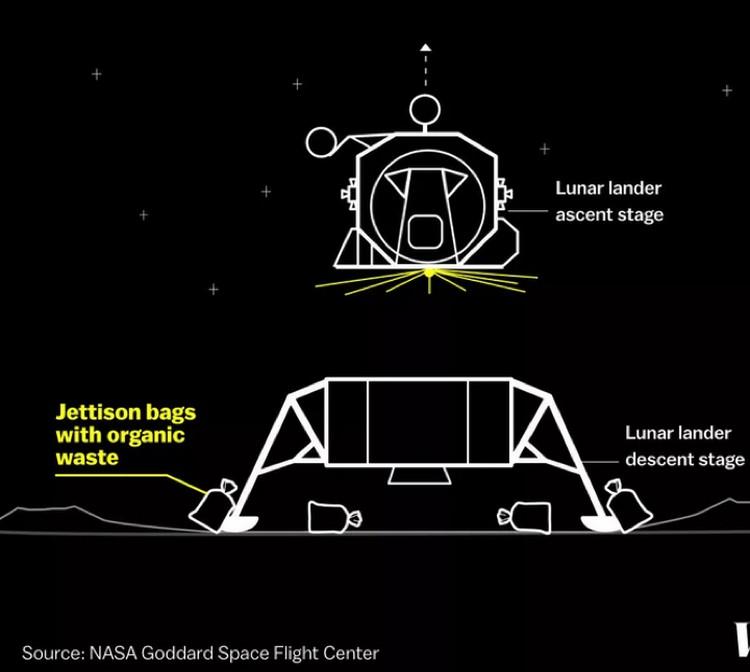 Местоположение фекалий известно - астронавты не прятали их далеко.