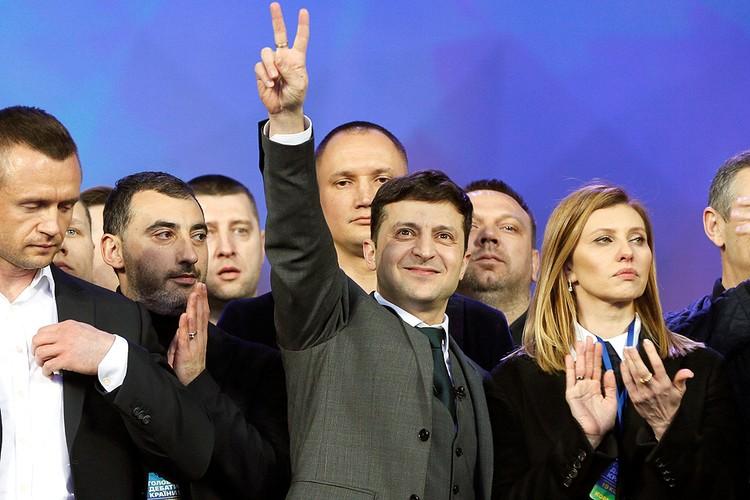 Кандидат в президенты Украины Владимир Зеленский.