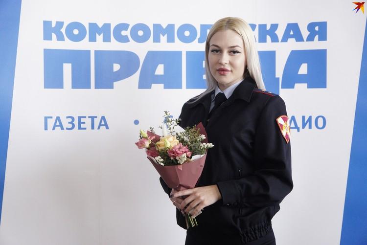 Совсем недавно прапорщик Храмцова получила титул самой красивой служащей Росгвардии на Урале