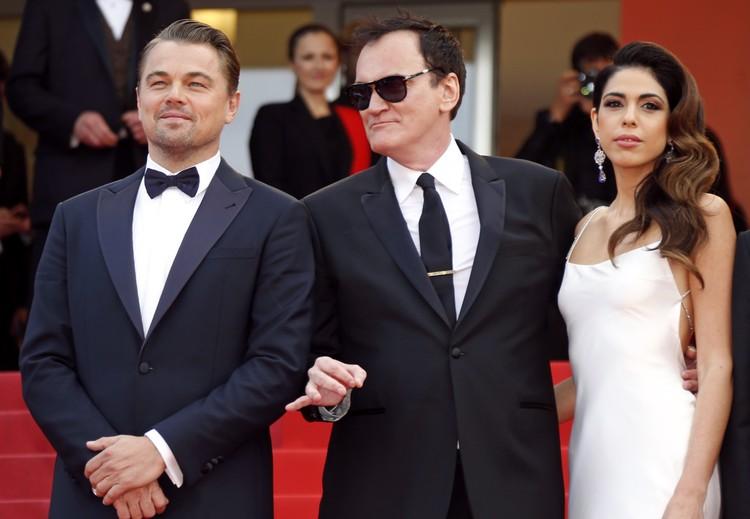 Леонадро Ди Каприо, Квентин Тарантино и жена режиссера Даниэла Пик.