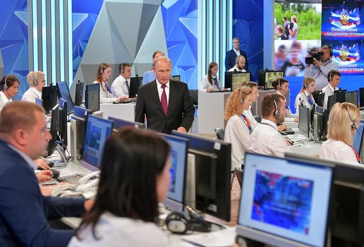 20 июня 2019 года состоялась 17-я Прямая линия президента РФ Владимира Путина