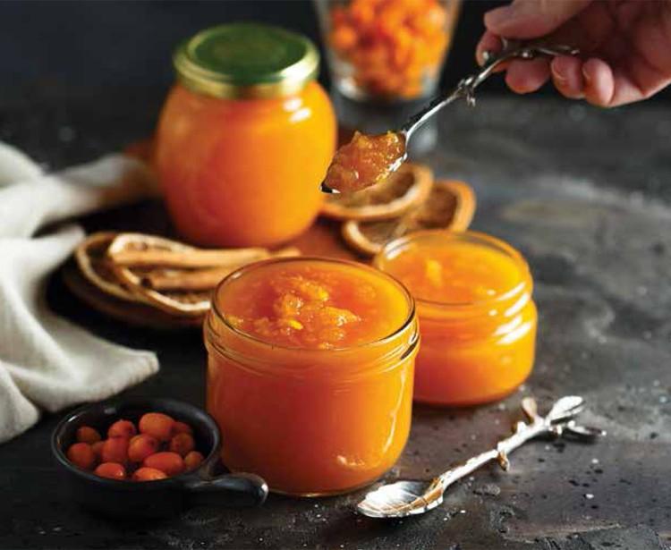 Тыквенный джем с облепихой и апельсином.