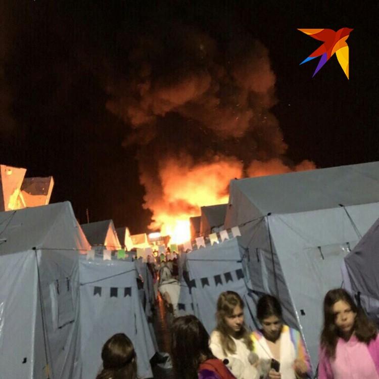 Страшный пожар в детском лагере