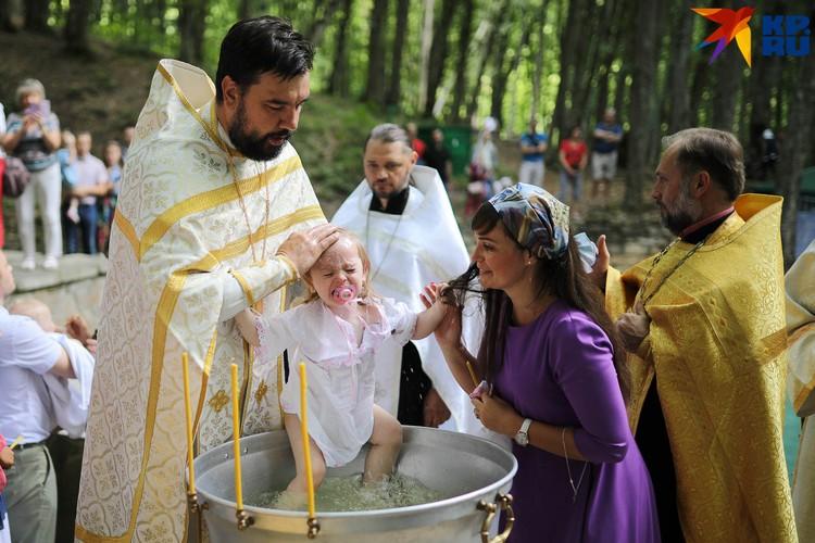Крещение самых маленьких