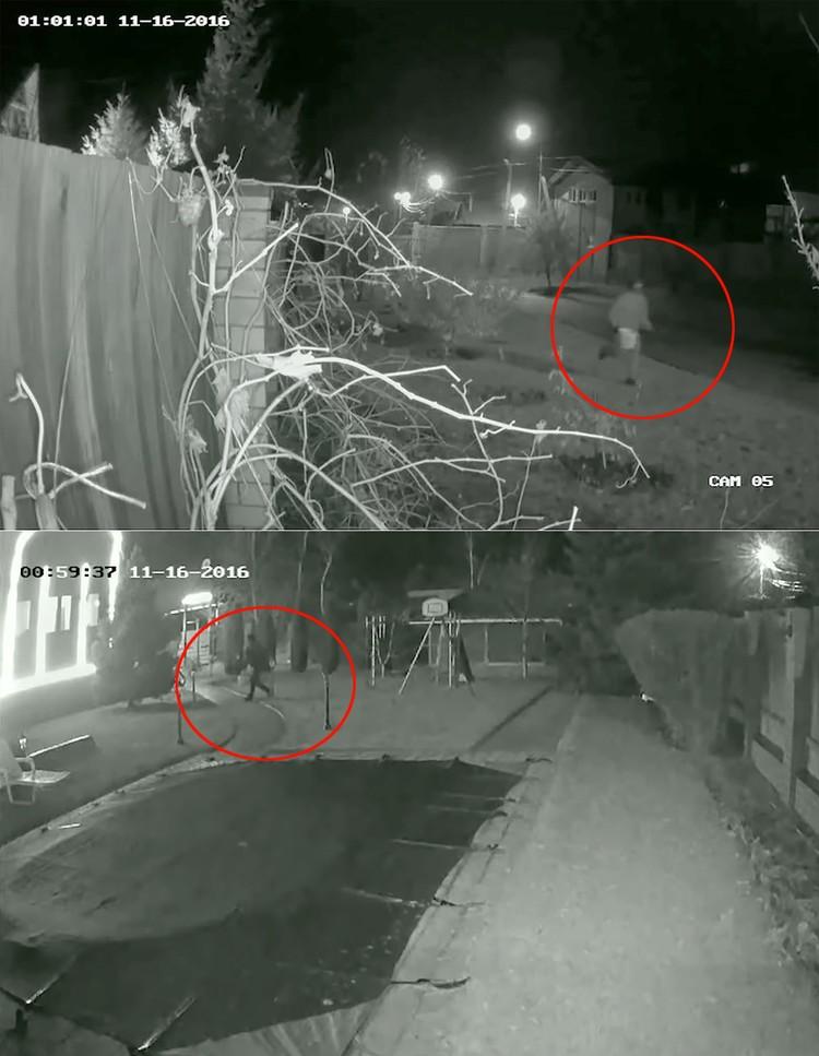 Кадры с камеры видеонаблюдения с попыткой поджечь дом губернатора.