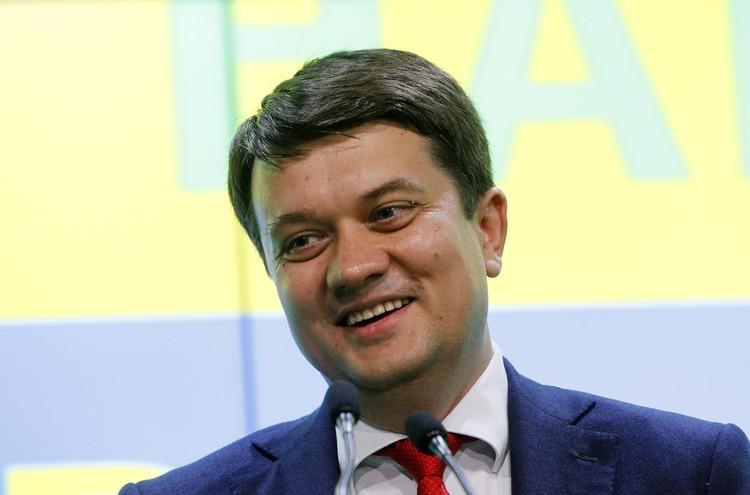Председатель партии «Слуга народа» Дмитрий Разумков.