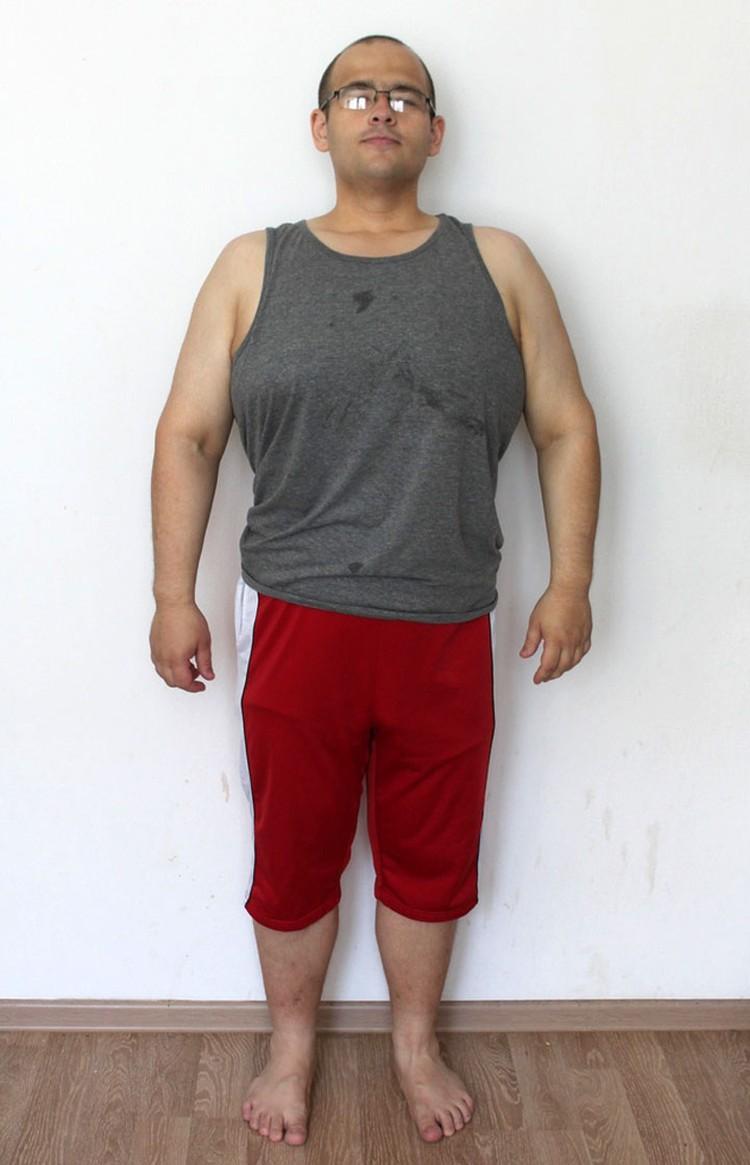Дмитрий поставил себе цель похудеть до 110 килограммов.