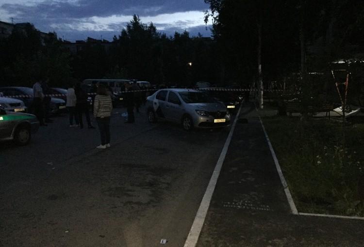 Глубокой ночью в этом дворе произошла драма. Фото с сайта СУ СК по ХМАО-Югре