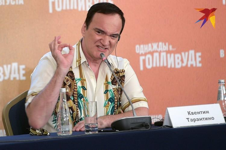 Квентин Тарантино на московской пресс-конференции.