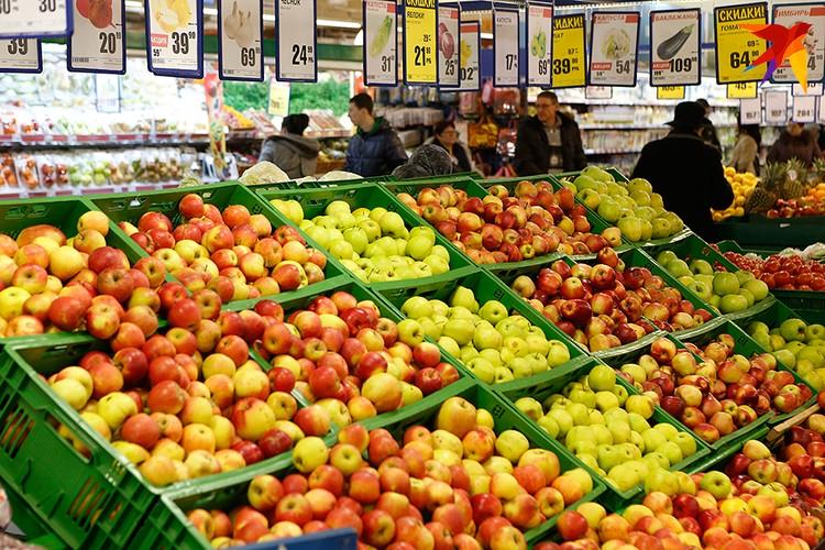 В магазинах каких только яблок нет
