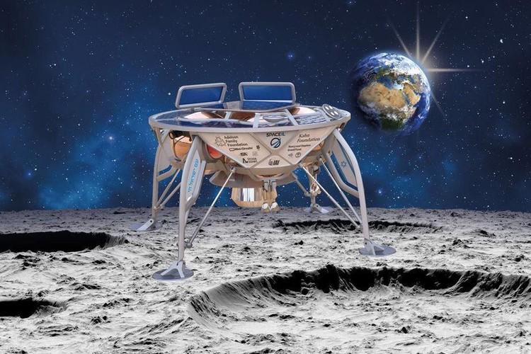 Израильский зонд «Берешит» не смог совершить успешную посадку на луну и снимок аппарата на лунной поверхности остался фантазией дизайнера. Фото: SpaceIL