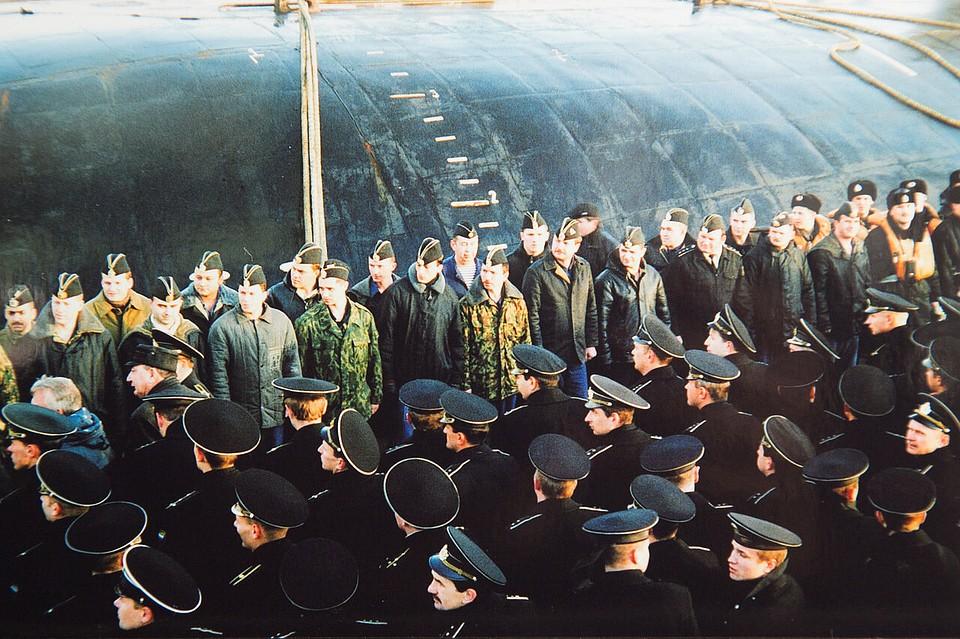 Фотографии экипажа подводной лодки курск