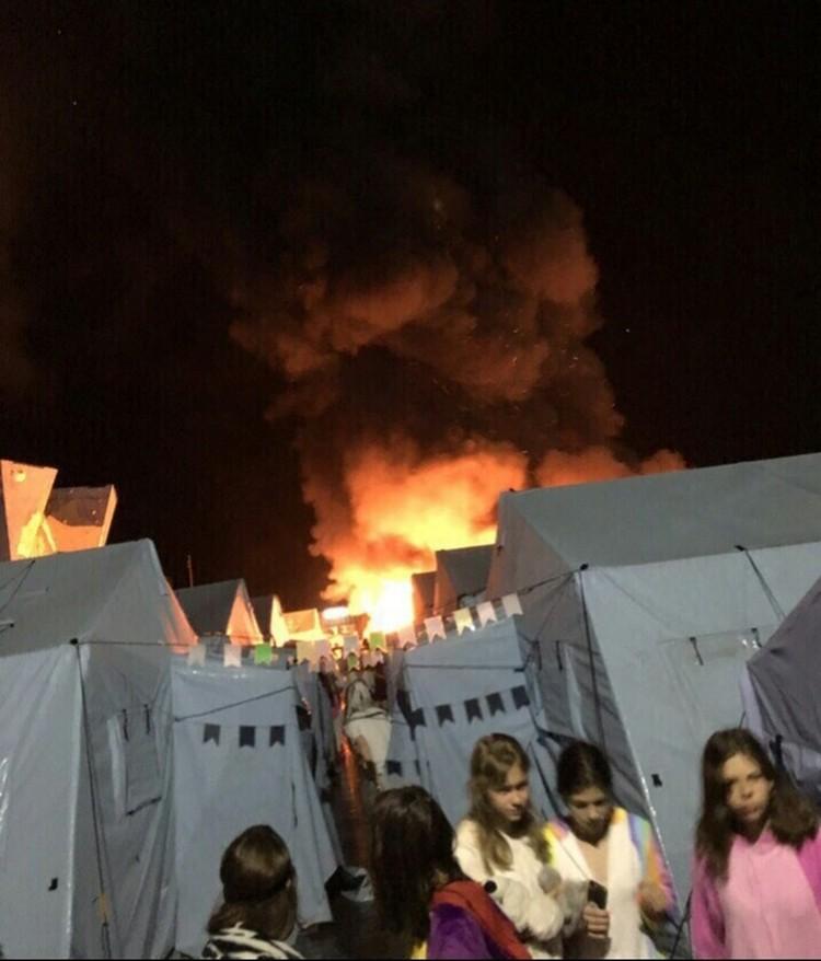 Пожар в Холдоми Фото: соцсети