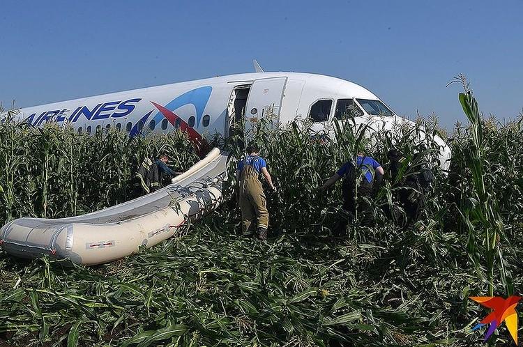 Самолет получил минимальные повреждения