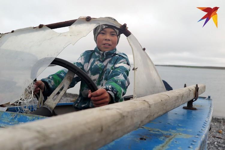 В лодке отца.