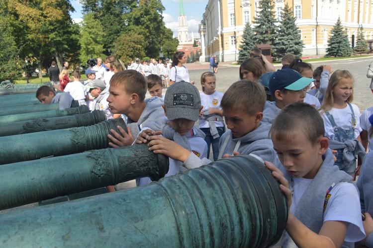 Большинство ребят раньше никогда не были ни в Туле, ни в Москве