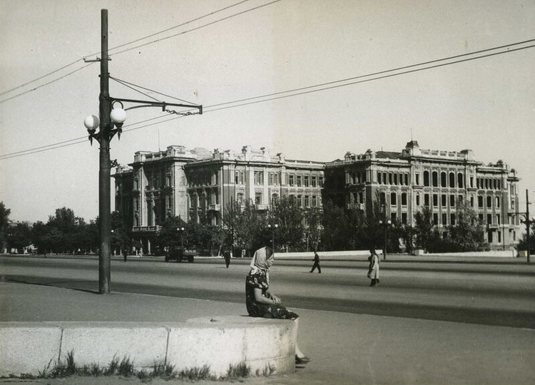 Здание СКЖД, 1947 год. Фото: kozhin-obelisk.livejournal.com