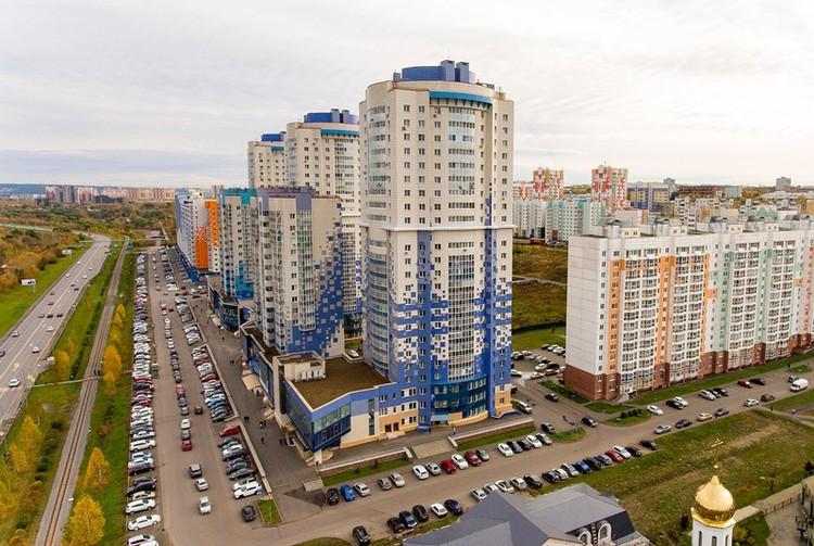 Жилой микрорайон в районе Притомского проспекта в Кемерово