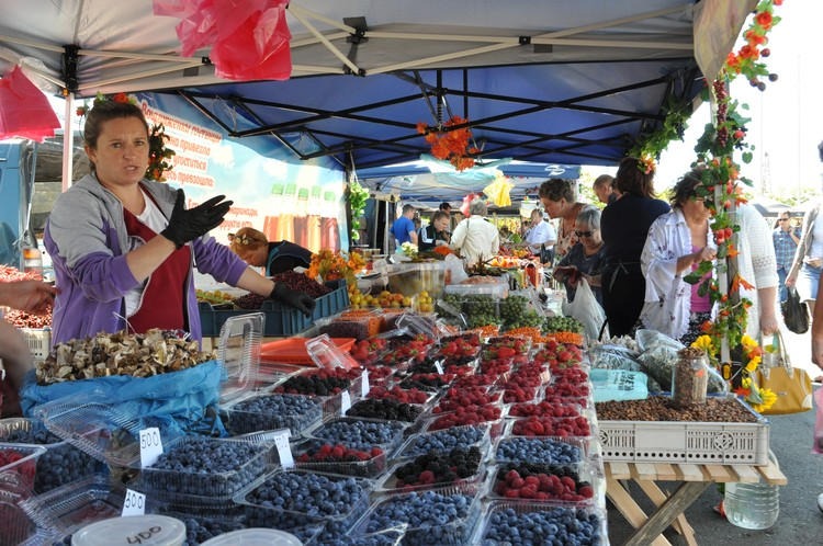 Широкий ассортимент ягод выставили на ярмарке