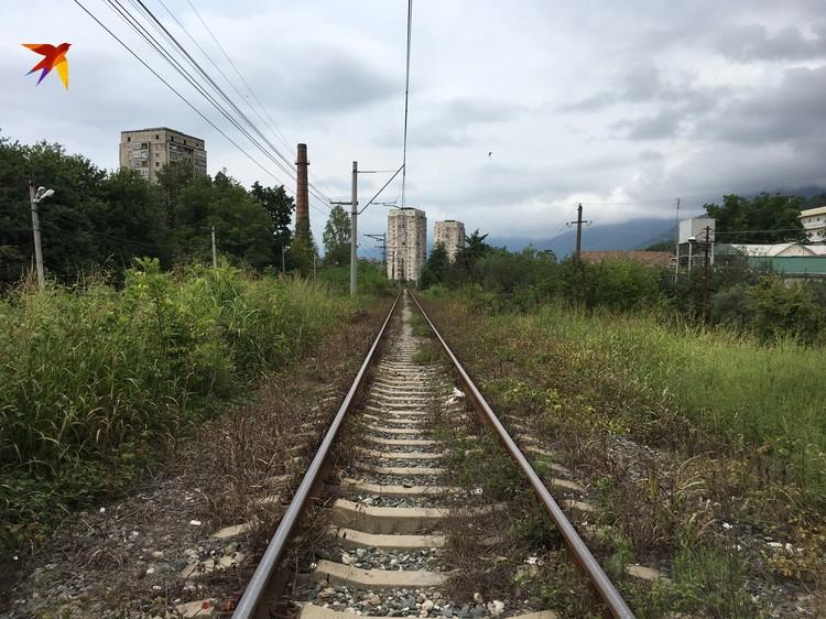 Дорога в Россию посреди Гагры