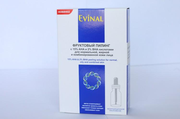 Фруктовый пилинг с 15% АНА и 2% ВНА кислотами для нормальной, жирной и комбинированной кожи лица EVINAL