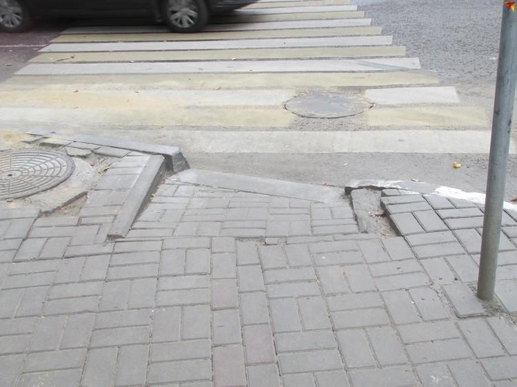 Пандус на улице Красноармейской