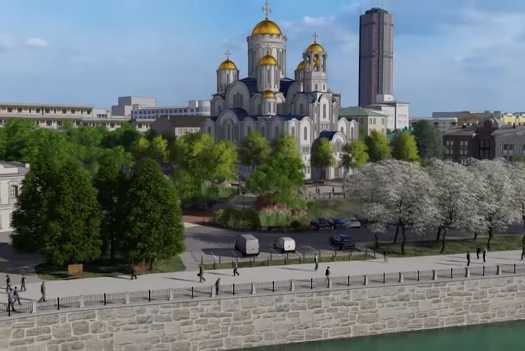 Так будет выглядеть собор, если его построят на месте Приборостроительного завода на Горького, 17. Фото: эскизы проекта