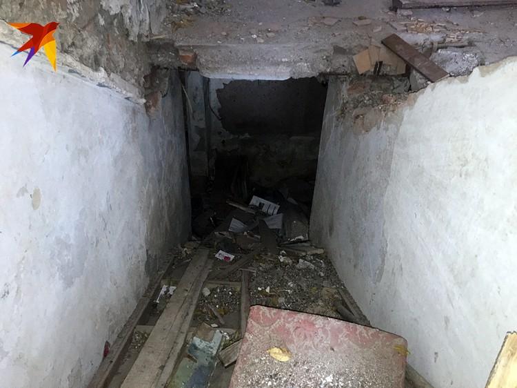 Тот самый подвал, где ощенилась собака.