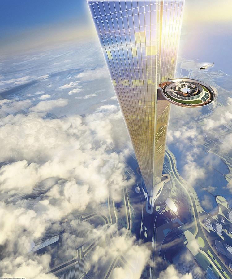 Сейчас в Саудовской Аравии полным ходом строят башню Джидда, первое здание в мире высотой в километр