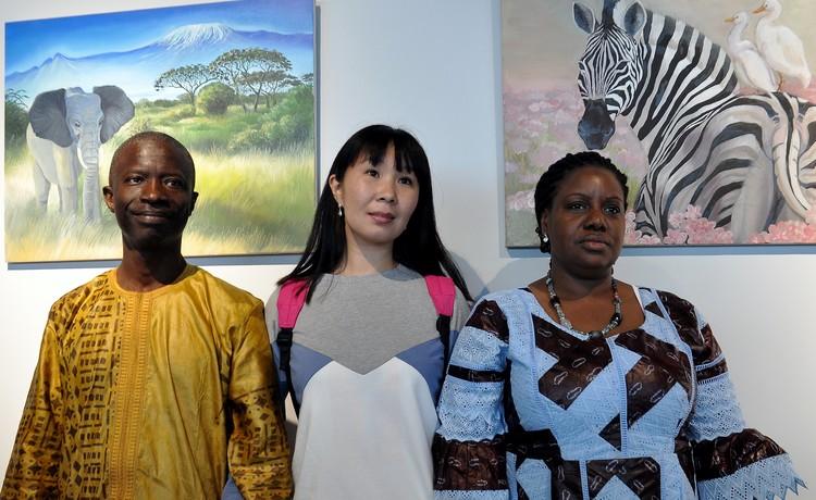 На мероприятии были и гости из жаркой Африки