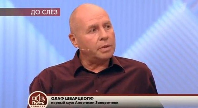 """Олаф Шварцкопф в студии """"Пусть говорят""""."""