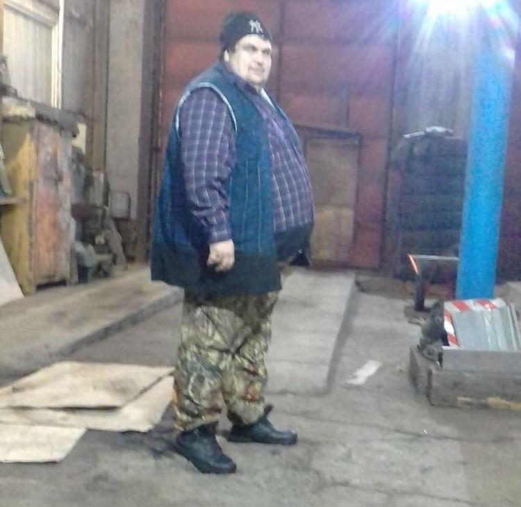А так выглядит сейчас. Вес мужчины почти 200 кг. Фото: личный архив Алексея Русина.