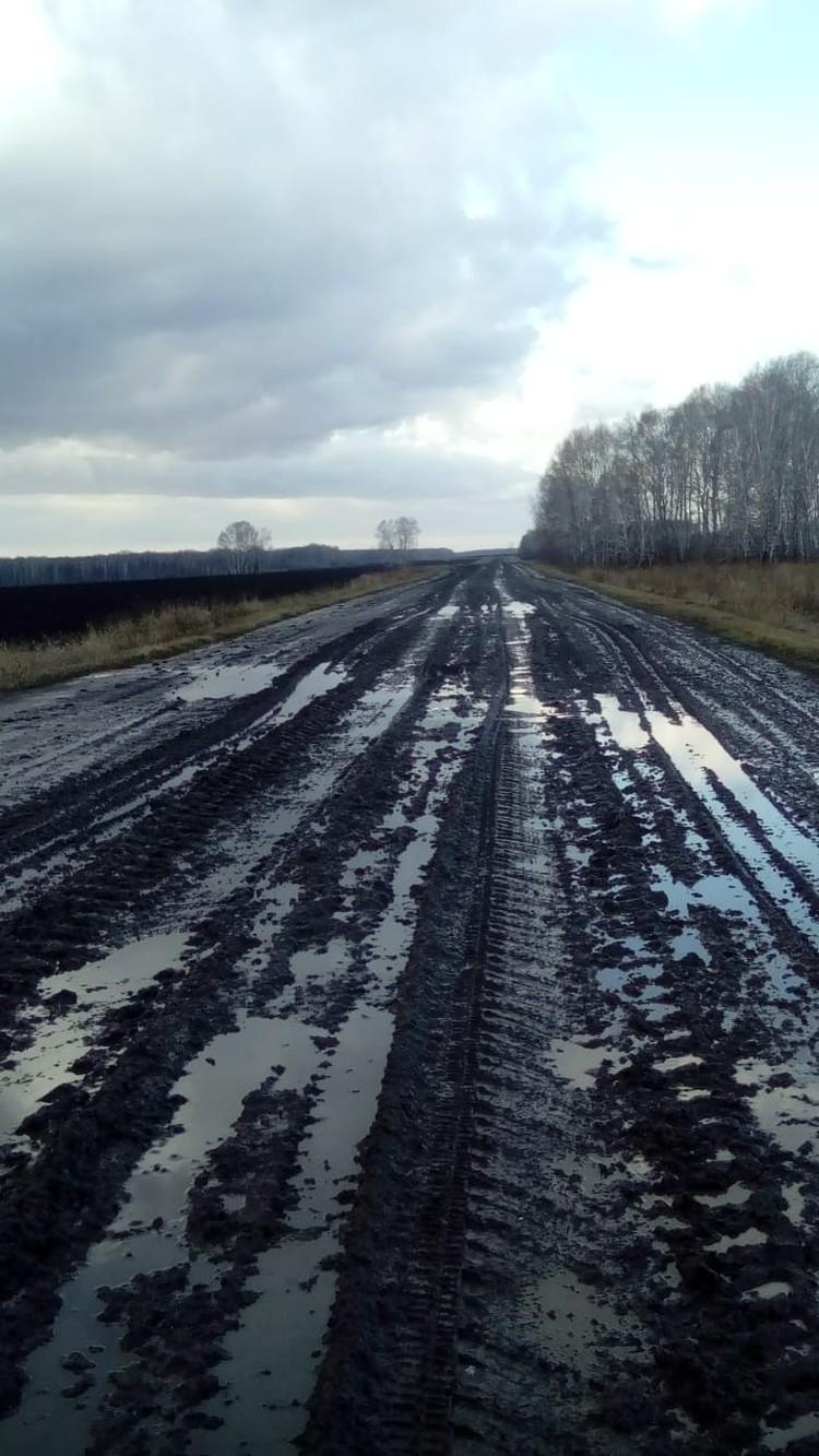 Вот так выглядит дорога из села Балман.