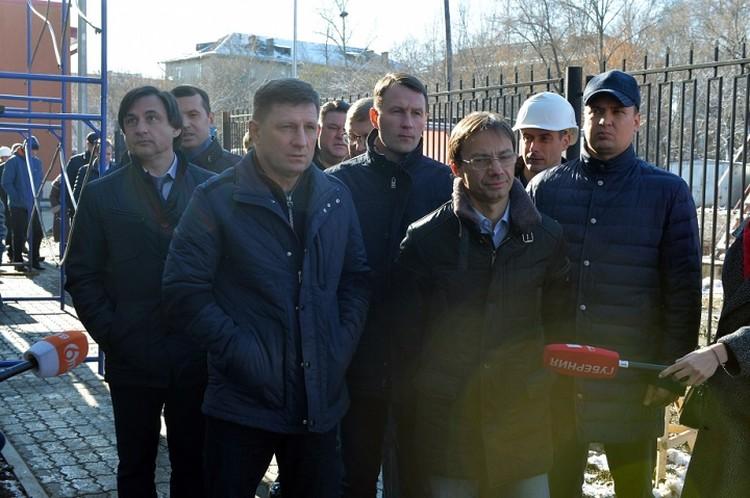 Губернатор Хабаровского края проинспектировал строительство станции скорой помощи в Комсомольске